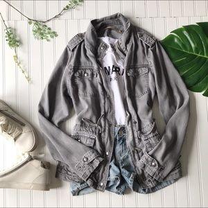 Max jeans grey jacket lightweight zip up